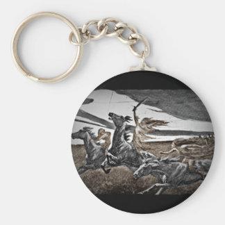 Women Viking Warriors Basic Round Button Keychain