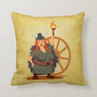 Women Vikings Rule Throw Pillow