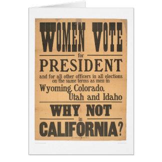 Women Vote Broadside (1873A) Card