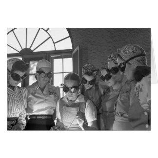 Women Welders in WWII, 1940s Card