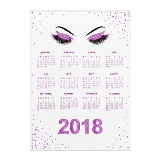 Women with glittery makeup 2018 calendar acrylic print