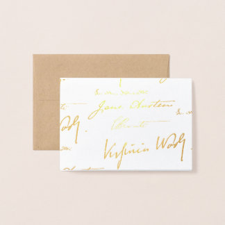 Women Writers - Gold Foil Card