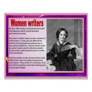 Women writers in the 19th century poster