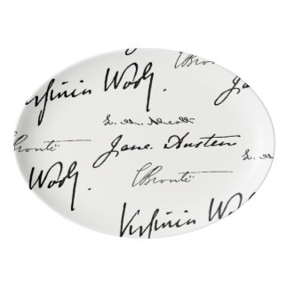 Women Writers Porcelain Serving Platter