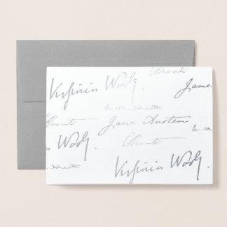 Women Writers - Silver Foil Card