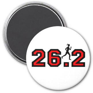 women's 26.2 marathon 3 inch round magnet