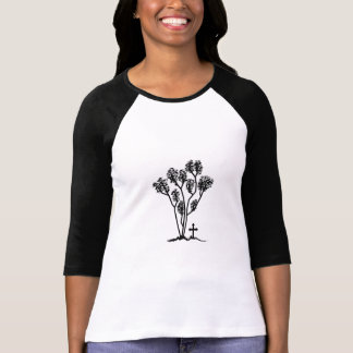 Women's 3/4 Reglan Shirt - Black & White Logo