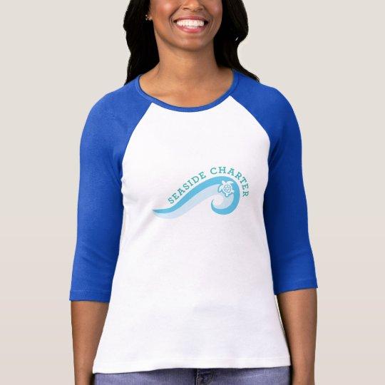 Women's 3/4 Sleeve shirt with 2 colour logo