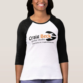 Women's 3/4 Sleeve Tee | Craig Beck Guitar Studio