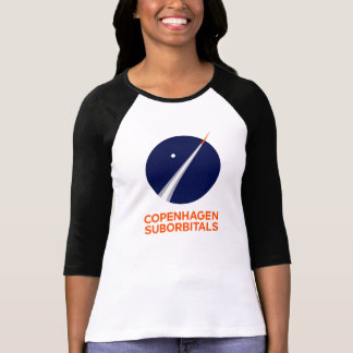 Womens 3/4 Sleeve With Copenhagen Suborbitals Logo T-Shirt