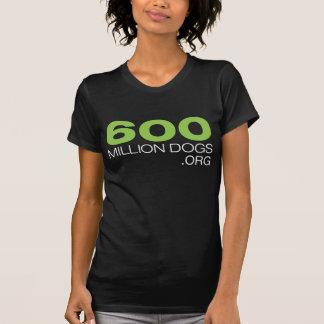 Women's 600 Million Dogs in Black T-Shirt