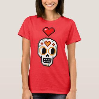 Women's 8-Bit Day of the Dead Loverboy T-shirt