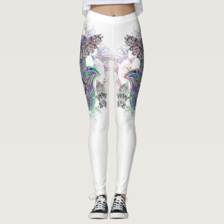 Women's Active Leggings Spirit Owl Design