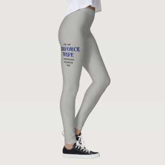 "WOMEN'S ""AIRFORCE WIFE"" SPANDEX LEGGINGS"