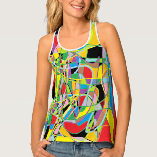 Women's All-Over Print Racerback Tank Top - mix