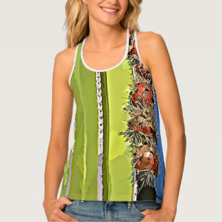 Women's All Over Print Racerback Top