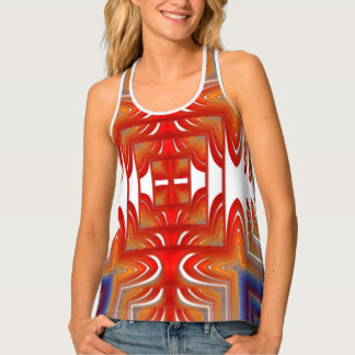 Womens all-over racer back tank top