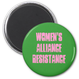 Women's Alliance Resistance 2 Inch Round Magnet