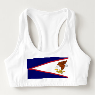 Women's Alo Sports Bra with flag of American Samoa