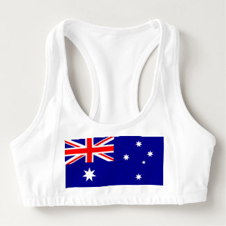 Women's Alo Sports Bra with flag of Australia