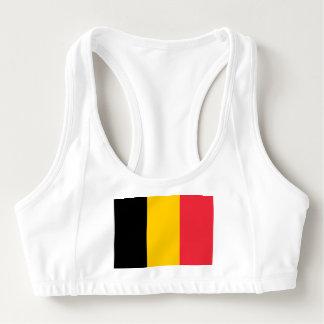 Women's Alo Sports Bra with flag of Belgium