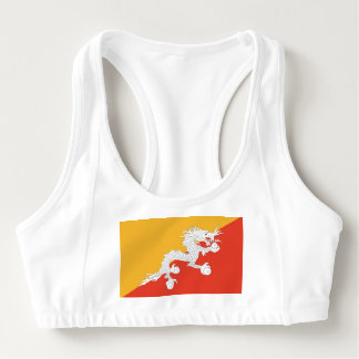 Women's Alo Sports Bra with flag of Bhutan