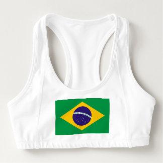 Women's Alo Sports Bra with flag of Brazil