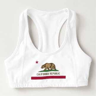 Women's Alo Sports Bra with flag of California