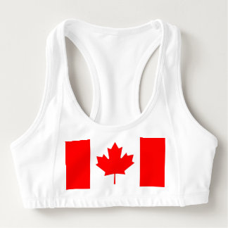 Women's Alo Sports Bra with flag of Canada