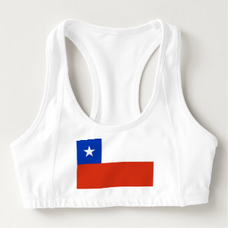 Women's Alo Sports Bra with flag of Chile