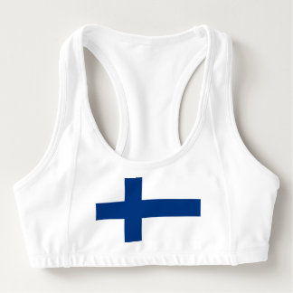 Women's Alo Sports Bra with flag of Finland