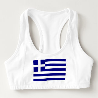 Women's Alo Sports Bra with flag of Greece