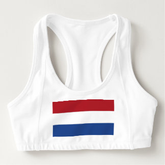 Women's Alo Sports Bra with flag of Netherlands