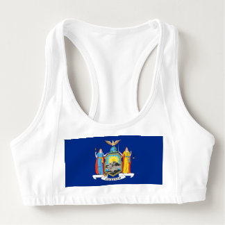 Women's Alo Sports Bra with flag of New York