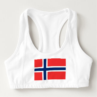 Women's Alo Sports Bra with flag of Norway