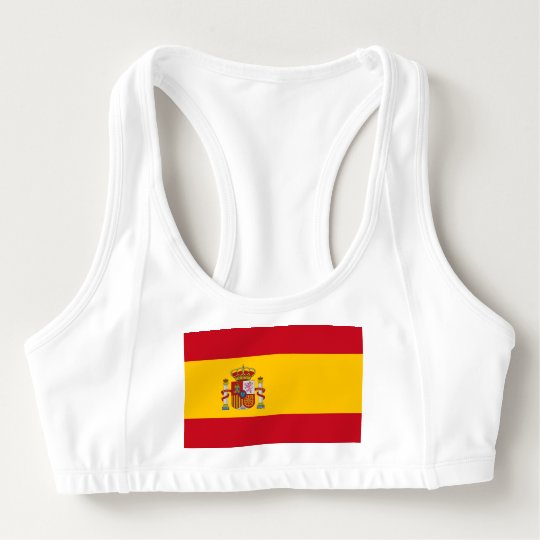 Women's Alo Sports Bra with flag of Spain