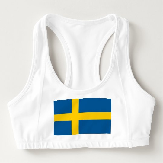 Women's Alo Sports Bra with flag of Sweden