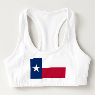 Women's Alo Sports Bra with flag of Texas