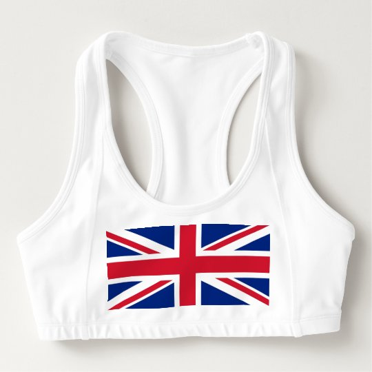 Women's Alo Sports Bra with flag of United Kingdom
