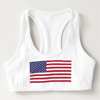 Women's Alo Sports Bra with flag of USA
