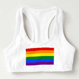 Women's Alo Sports Bra with Pride flag of LGBT