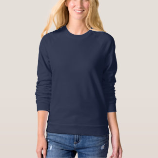 Women's American Apparel Raglan Sweatshirt NAVY BL