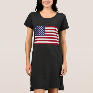 Women's American Flag Alternative T-Shirt Dress