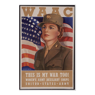Women's Army Air Corp Poster