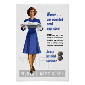 Women's Army Corps -- WW2 Recruiting Poster
