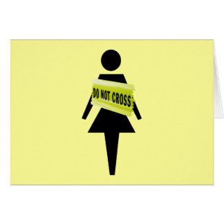 Women's attitude women's greeting card