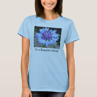Women's Bachelor's Button Floral T-Shirt