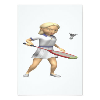 Womens Badminton Card