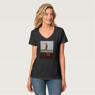 Women's Barn Owl v-neck t-shirt