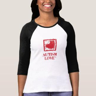Women's Baseball Style Autism Love Fan T-Shirt